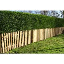 Picket Garden Fence Panels Wood Pales 4ft High Pointed Top Pack Of 10 Ebp Pt 4ftx10