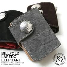 kc s wallet men folio elephant leather