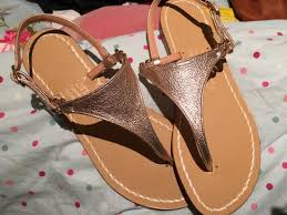 rose gold leather sandals picture of