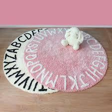 Alphabet Round Rug Room Decor Fashion For Your Kids