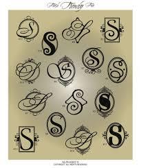 Fancy Monogram Letter S Vinyl Wall Decal Sticker Alphabet Home Decor Monogram Letter S Monogram Letters Fancy Letter S