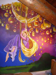 Etsy Rapunzel Tower Tangled Wall Stickers Disney Princess Murals Independence