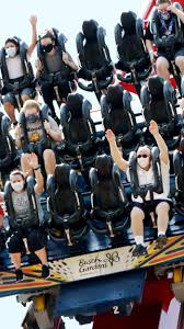crowd wearing face masks