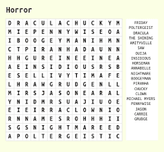 beauty therapy word search