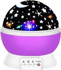 Amazon Com Boy Girl Toys Age 3 12 Ouwen Night Light Moon Star Rotating Projector For Kids Room 2 10 Year Old Girls Boys New Easter Gifts Top Best Toys For 2 8 Year Old Girls