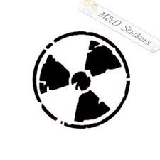 2x Radioactive Distressed Sign Vinyl Decal Sticker Different Colors M D Stickers