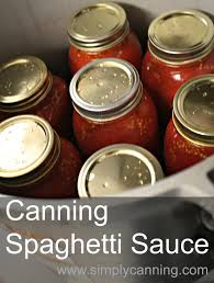 canning spaghetti sauce recipe with