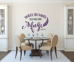 Psalms Wall Decals Christian Wall Art Psalm 91 4 Christian Decal Christian Wall Decor Under His Wings They Will Find Refuge