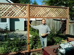 Local Fsc Redwood Trellis Fence Lush Planet Electric Buildinggallery