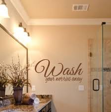 Wash Your Worries Away Vinyl Wall Decal Home Decor Bathroom Etsy