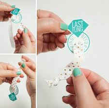 learn how to make elastic hair tie favors