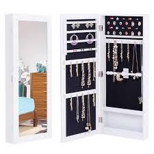 storage jewelry cabinet makeup mirror