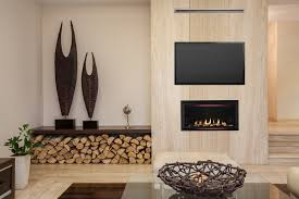 tv above the rave modern gas fireplace
