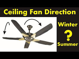 ceiling fan direction in the winter and