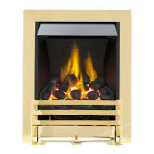 brass chimney coal fireplace inset