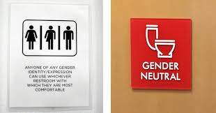 in all gender restrooms the signs
