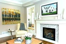 brick fireplace surround tile over