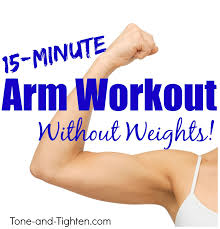 at home arm workout without weights
