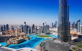 تحميل خلفيات ناطحات السحاب نوافير برج خليفة دبي الإمارات