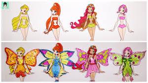 Design dress for winx club paper dolls transform / Paper Dolls ...