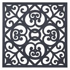 matrix 900 x 900 x 7mm charcoal scrolls