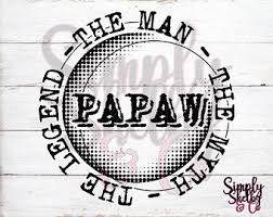 Papaw Decal Etsy