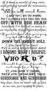 Alice Book Quote Set Wall Decal Alice In Wonderland Net Shop