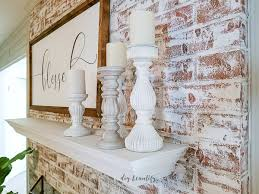 using chalk paint to update a brick