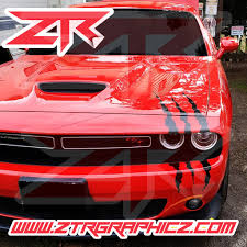 Dodge Challenger Large Oversize Headlight Claw Scratch Mark Decal Grap Ztr Graphicz