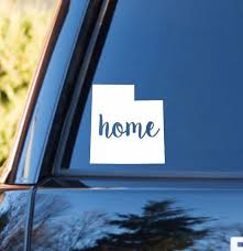 Utah Home Decal Utah Decal Homestate Decals Love Sticker Love Decal Country Decal Preppy Car Decal Car Car Decals Love Stickers Bumper Stickers