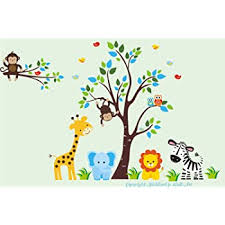 Amazon Com Baby Room Wall Decals Kids Room Wall Stickers Jungle Animal Wall Decals Safari Animal Wall Stickers Baby Room Furniture Baby Stuff Nursery Wall Art Baby