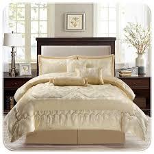 luxury jacquard 7 piece cream bedding