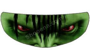 The Hulk Motorcycle Helmet Shield Sticker Skullskins