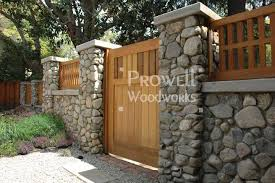 Wall Top Fence Design 2 In Claremont Ca Stone Walls Garden Garden In The Woods Fence Design