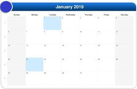 printable 2019 calendar templates pdf excel
