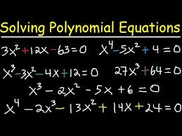 solving polynomial equations by