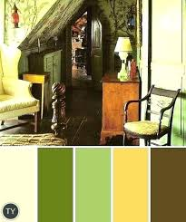 green color schemes for living room