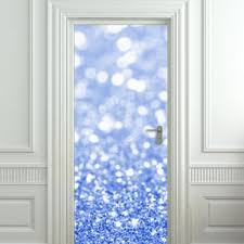 Door Wall Sticker Poster Bling Glitter Sparks Blue Decole Sparks Shimmer Cover Film 30x79 77x200 Cm Pulaton On Artfire