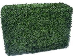 Silksareforever 10hx29wx10d Uv Proof Outdoor Artificial Boxwood Topiary Hedge Green Reviews Wayfair