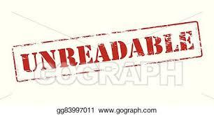 Vector Clipart - Unreadable. Vector Illustration gg83997011 - GoGraph
