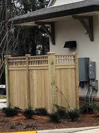 Custom Fence To Hide Ac Unit At Azalea Trace D S Building Contractors Inc Facebook