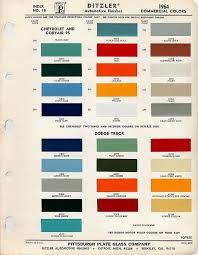 paint color chart car paint colors
