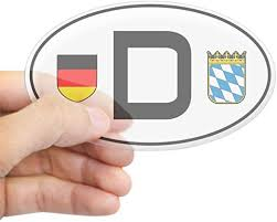 Amazon Com Cafepress Germany Car Sticker Bayern Variant Oval Bumper Sticker Euro Oval Car Decal Home Kitchen