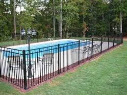 Galvanized Iron Railing Iron Fence Panels Swimming Pool Raiing Inground Pool Landscaping Backyard Pool Pool Landscaping