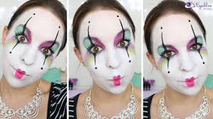 colorful mime makeup tutorial by