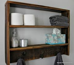 Beyond The Picket Fence Rustic Reclaimed Wood Wall Shelf
