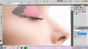 how to apply makeup in photo cs5