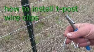 How To Install Wire Clips On T Posts Youtube