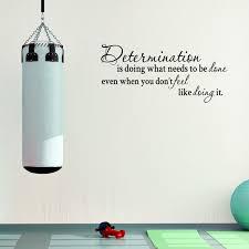 Determination Motivational Quote Fitness Life Gym Vinyl Wall Decal Quote Jm164 Walmart Com Walmart Com