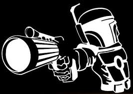 Boba Fett Gun Star Wars Vinyl Car Laptop Window Wall Decal Mymonkeysticker Com